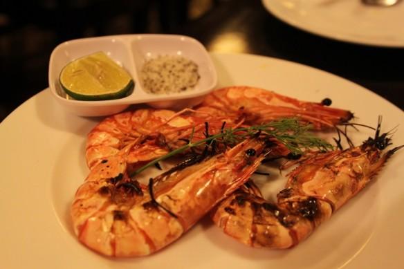 25 bbqed shrimps