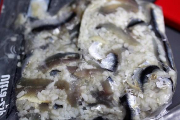 achoas fermentando en arroz cocido