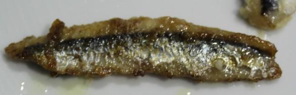 anchoas fermentadas arroz tostado plancha