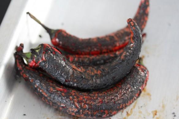 chiles quemados