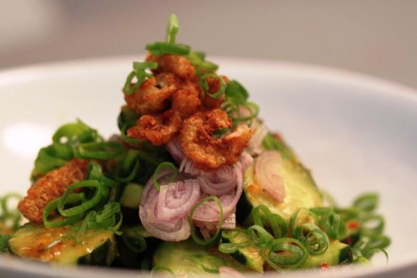 ensalada pepino japonés con vinagreta tailandesa