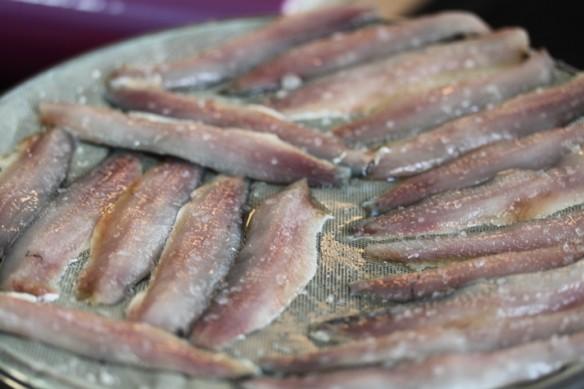 sardinas sudando rejilla