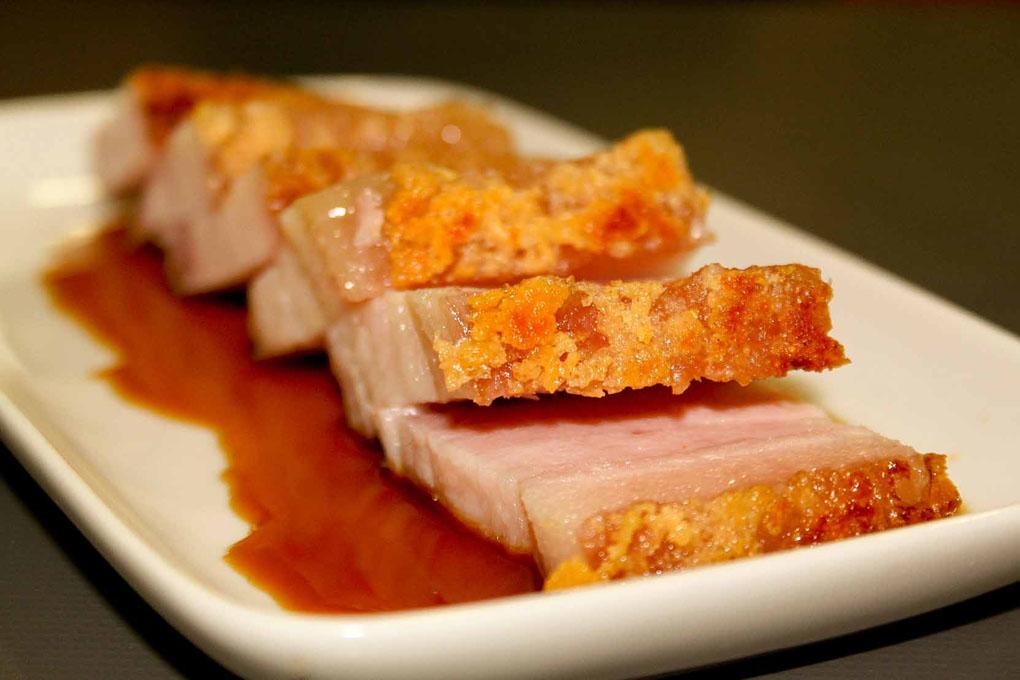 Panceta rosa a baja temperatura con glasa de cerdo for Cocina baja temperatura